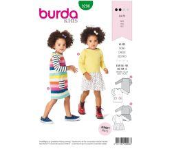 Střih Burda 9296 - Dětské tričkové šaty