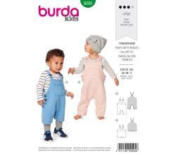 Střih Burda 9295 - Dětské laclové kalhoty