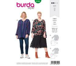Střih Burda 6194 - Tunika pro plnoštíhlé