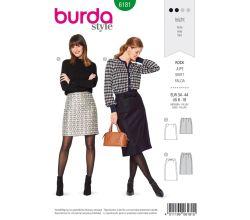 Střih Burda 6181 - Úzká áčková sukně