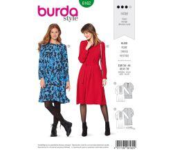 Střih Burda 6162 - Šaty s plisováním