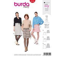 Střih Burda 6154 - Áčková sukně, mini sukně