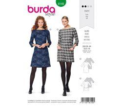 Střih Burda 6149 - Áčkové šaty s kapsami