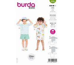 Střih Burda 9284 - Dětské tričko, tričkové šaty