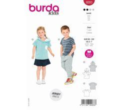 Střih Burda 9283 - Dětské tričko, tričko s kapucí