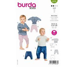Střih Burda 9278 - Dětská boho halenka, tepláčky