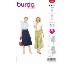 Střih Burda 6142 - Dlouhá letní sukně, midi sukně
