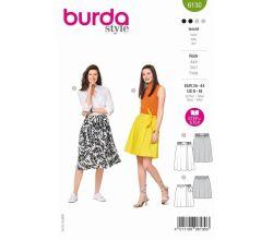 Střih Burda 6130 - Zavinovací sukně