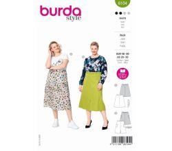 Střih Burda 6104 - Áčková sukně pro plnoštíhlé