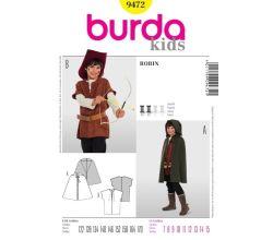 Střih Burda 9472 - Robin Hood, zbojník