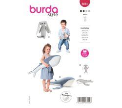 Střih Burda 6044 - Králíček, velryba, hračky, dekorace pro děti