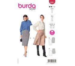 Střih Burda 6061 - Sukně, rozšířená sukně