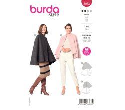 Střih Burda 6063 - Plášť