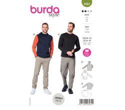 Střih Burda 6064 - Pánské tričko s dlouhým rukávem, mikina s kapucí