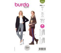 Střih Burda 6070 - Úzké kalhoty, jegginy