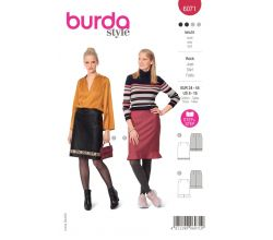 Střih Burda 6071 - Rovná sukně