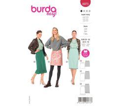 Střih Burda 6073 - Rovná sukně s gumou v pase