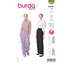 Střih Burda 6079 - Široké kalhoty s puky