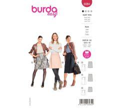 Střih Burda 6084 - Zavinovací sukně