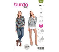Střih Burda 6090 - Mikina na zip s kapucí, mikina s vysokým límcem