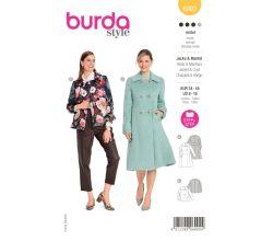 Střih Burda 6092 - Áčkový kabát, krátký kabát