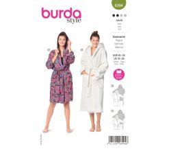 Střih Burda 6094 - Župan pro plnoštíhlé