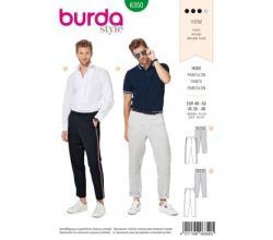 Střih Burda 6350 - Pánské kalhoty s lampasem, pánské letní kalhoty