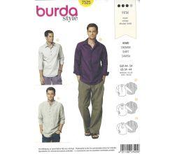 Střih Burda 7525 - Pánská košile