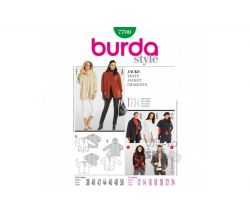 Střih Burda 7700 - Dámský kabát