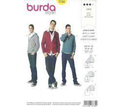 Střih Burda 7734 - Mikina