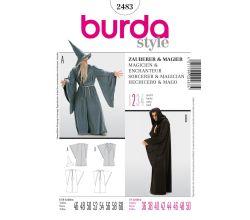 Střih Burda 2483 - Čaroděj, Gandalf, mág