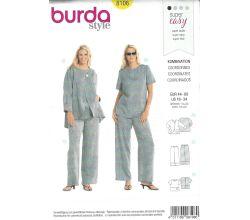 Střih Burda 8108 - Top, sako a kalhoty