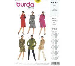 Střih Burda 8292 - Dámský kabát