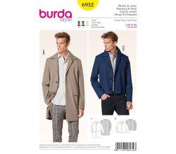 Střih Burda 6932 - Pánský kabát