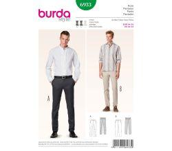 Střih Burda 6933 - Pánské kalhoty, kalhoty s puky