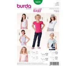 Střih Burda 9439 - Dětské jednoduché tílko, tričko