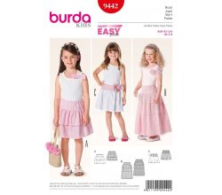Střih Burda 9442 - Dětská jednoduchá sukně, tylová sukně
