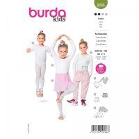 Střih Burda 9266 - Dětský dres na balet, bolerko