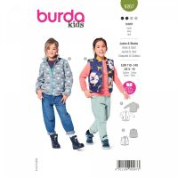 Střih Burda 9267 - Dětský střih vesty a bundy
