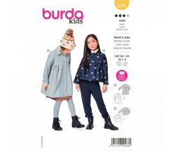 Střih Burda 9268 - Dívčí kabátek ve dvojím provedení