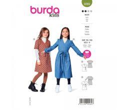 Střih Burda 9269 - Dívčí zavinovací šatičky ve dvojím provedení