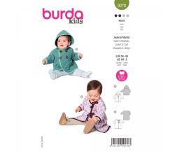 Střih Burda 9270 - Kabátek s kapucí a župánek pro miminko dvojím provedení
