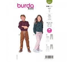 Střih Burda 9271 - Dívčí a klukovské kalhoty ve dvojím provedení