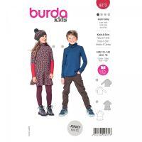 Střih Burda 9272 - Šaty a rolák pro školní děti - kombinace 2 střihy