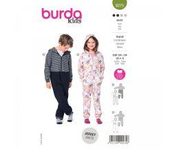 Střih Burda 9275 - Dětský overal ve dvojím provedení