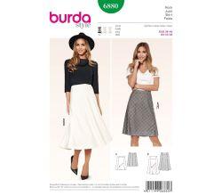 Střih Burda 6880 - Zvonová sukně, dlouhá sukně