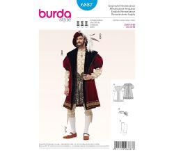 Střih Burda 6887 - Pánský kostým z období anglické renesance