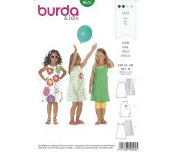 Střih Burda 9544 - Dívčí šatičky