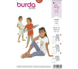 Střih Burda 9615 - Dětské legíny