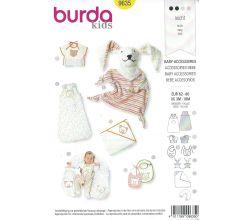 Střih Burda 9635 - Spací pytel, deka, kojící polštář, bryndáčky, maňásek